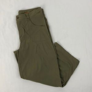 Lucy Olive Green Cropped Pants, Size Small